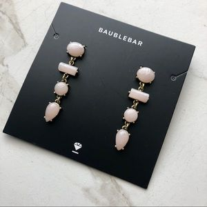 Bauble Bar Pink Stone Earrings Gold Tone Dangle